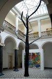 Katie Holten, Old News (Tree for Villa Merkel), 2008<br>paper-mache, ink, H.c.900 cm, view solo-exhibition at Villa Merkel 2008, Photo(c)VAN HORN, Düsseldorf 2008