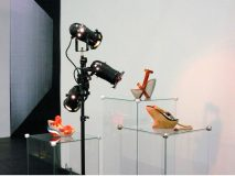 Manuel Graf, Zoccolo, Bernardo, Chopine, 2008<br>installation view at Artforum Berlin 2008, mixed media, dimensions variable<br>Courtesy VAN HORN, Düsseldorf