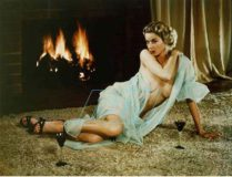 "Russ Meyer, Eve in Front of Fireplace, c. 1955/2002<br>c-print, framed, 16 1/4 x 19 1/4"" / 41,7 x 49 cm<br>Courtesy VAN HORN, Düsseldorf & Feigen Contemporary, New York, (c)The Estate of Russ Meyer"