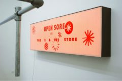 CADY NOLAND, Open Sore, September 7 - October 26, 2007, Installation view VAN HORN, Dusseldorf with Open Sore, The 5 & 10 c Store, 1990,Lightbox, 71,5 x 244 x 22 cm, nfs from The Schurmann Collection, Herzogenrath, Photo(c)VAN HORN/Daniela Steinfeld 2007