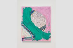 Joanne Greenbaum, Untitled, 2014, ballpoint pen, oil, and marker on canvas, 24 x 20 inches